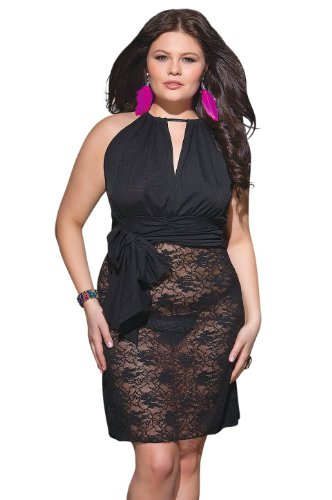 Coquette Women's Plus Size Vintage Style Nightgown Chemise