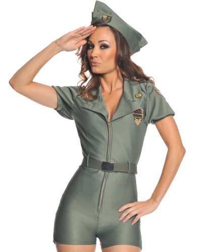 Attention Sexy Military Adult Costume Size 12-14 Large