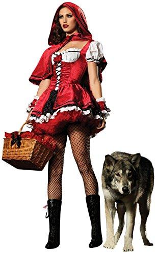 WT Sexy Red Riding Hood women's adult Costume Halloween Dress