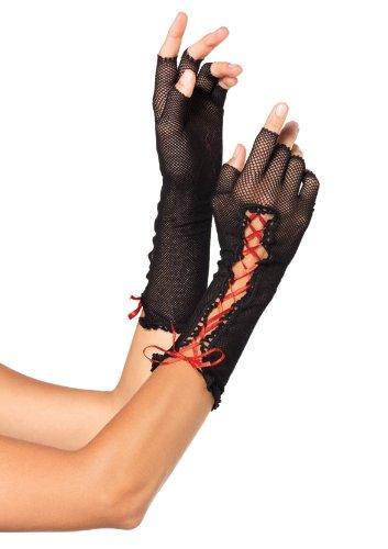 Leg Avenue Women's Lace Up Fishnet Fingerless Gloves