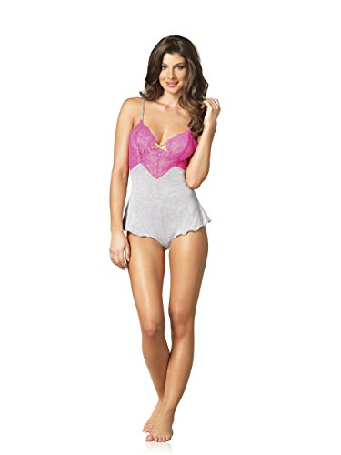 Leg Avenue Women's Seraphina By Jersey Romper with Lace