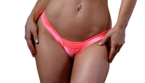 BodyZone Apparel Sexy Comfort V Thong Panties. Coral. Thong Panty. One Size. Made in USA.