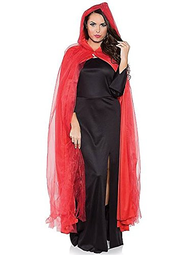 Red Tattered Full Length Ghost Cape