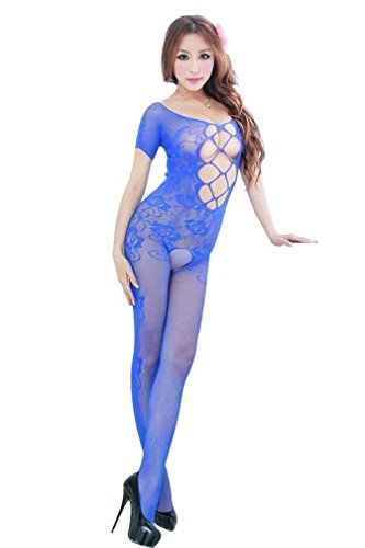Women's Industrial Net Crotchless Bodystocking