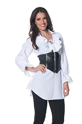 Underwraps Women's Pirate Laced Front Blouse