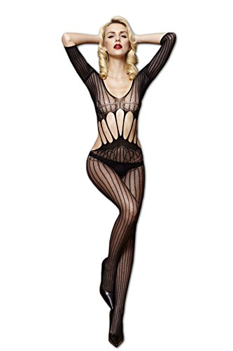 Moonight Crotchless FishNet Body stocking Bodysuit Lingerie Nightwear White