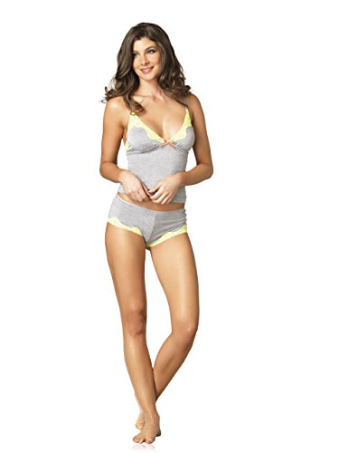 Leg Avenue Women's Seraphina By Jersey Cami and Short Set