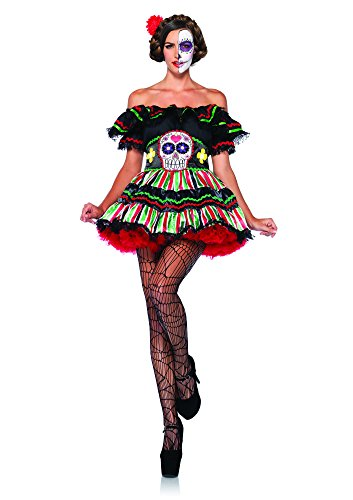 Leg Avenue Women's 2 Piece Day Of The Dead Doll