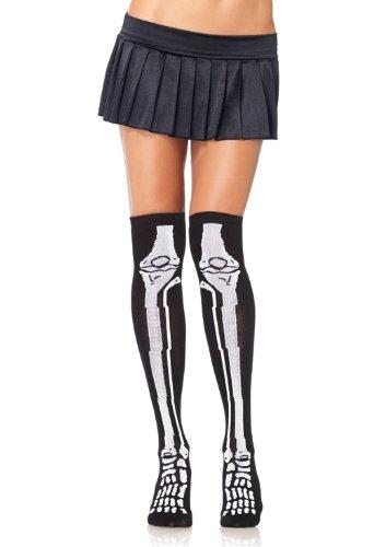 Leg Avenue Women's Acrylic Skeleton Over The Knee Socks