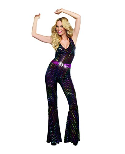 Dreamgirl Women's Sexy 70's Groovy Costume, Disco Doll