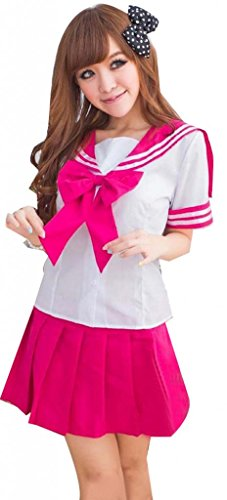 Sexy Grid School Girls Costume Cosplay Lingerie top dress uniform lolita outfit