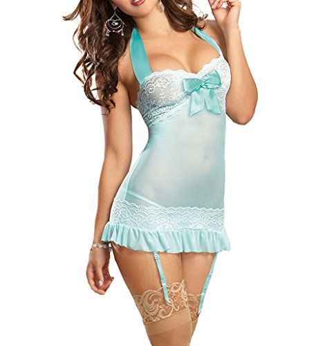 Papaya Wear Women Lingerie Halt Top Lingerie Dress Underwear Set