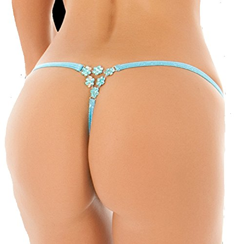 BodyZone Apparel Turquoise Thong Panties. Turquoise. O/S. Made in the USA. UN050.