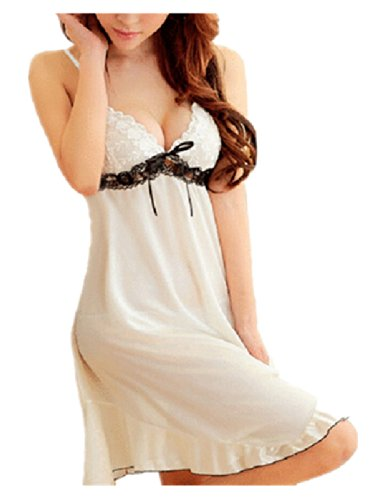 Women's Sexy Lingerie Lace Dress Underwear Black Babydoll Sleepwear G-string (S ( US  XS))