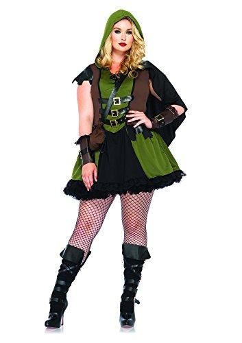 Leg Avenue Women's Plus-Size 3 Piece Darling Robin Hood