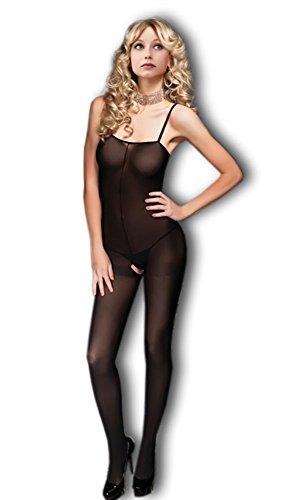 Moonight Women Sexy Camisole FishNet Open Crotch Bodystocking Badydoll Sleeveless Dress