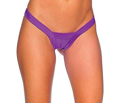 BodyZone Apparel Sexy Comfort V Thong Panties. Purple. Thong Panty. One Size. Made in USA.
