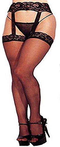 Plus Size Lingerie Erotic Garter/Stockings Dancer XL-2X-3X ONE SIZE Queen