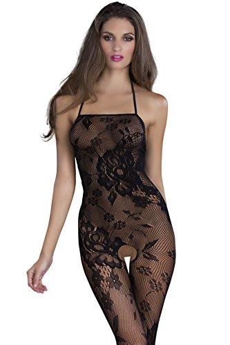 Oh la la Cheri Women's Crotchless Lace Pattern Bodysuit