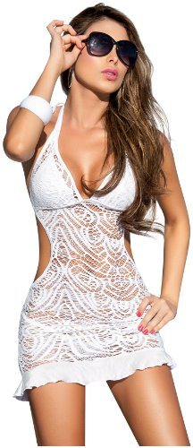 AM PM Women's Cover-Up Dress -White