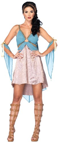 Leg Avenue Costumes 3Pc.Golden Goddess Dress Rope Arm Pieces Headpiece