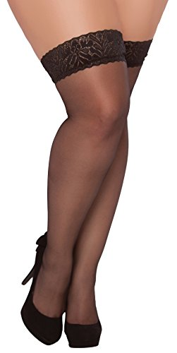 Seven Til Midnight Women's Sheer Lace Top Thigh High Stocking