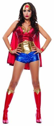Starline Women's Wonder Lady Sexy 5 Piece Costume Set with Headpiece