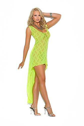 Elegant Moments Women's Sleeveless Lace Hi-Lo Dress
