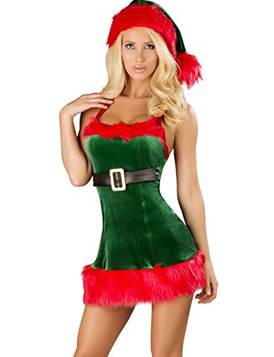 YOLL Women's Sexy Christmas Costumes Lingerie Outfits Dress