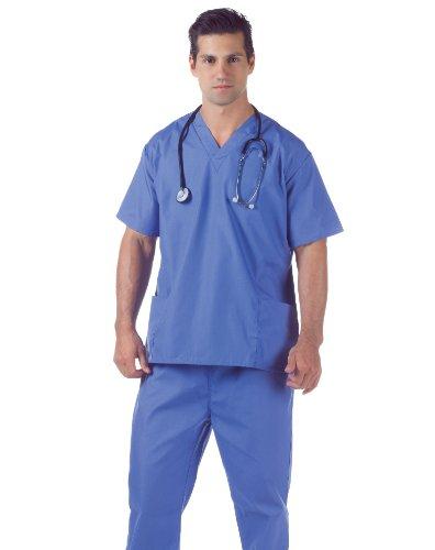 Underwraps Men's Plus-Size Hospital Scrubs