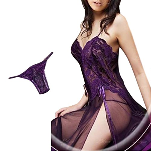 Hot Sexy Women Ladies Lingerie Nightgown Sleepwear Set Babydoll Dress Pajamas