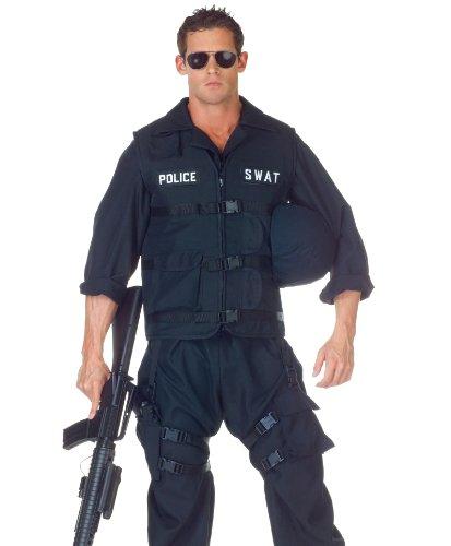 Underwraps Men's Plus-Size Swat with Jumpsuit