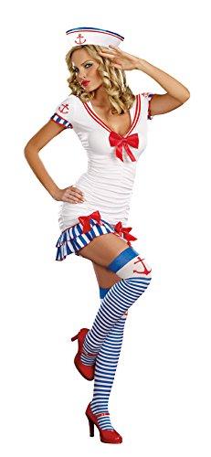 Dreamgirl Women's Sexy Sailor, Sea Captain Costume, Sailor Pin Up