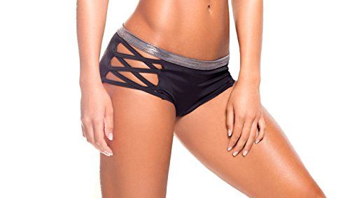 BodyZone Apparel Yoga & Fitness Iron X Short. Black/Silver. Medium/Large. Made in the USA.