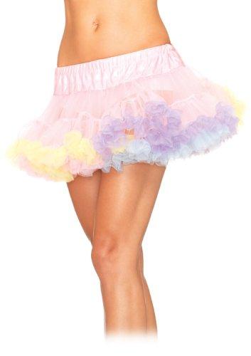 Leg Avenue Women's Mini Tulle Rainbow Trimmed Petticoat