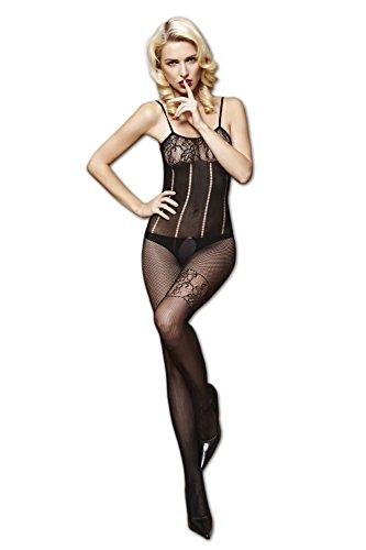 Moonight Women Fishnet Open Crotch Body Stocking Bodysuit Nightwear Lingerie Dress