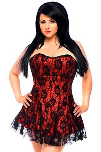 Daisy Corsets Women's Lavish Red Lace Corset Dress