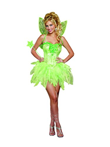 Dreamgirl Women's Sexy and Sparkly Tink, Absinthe Costume, Fairy-Licious