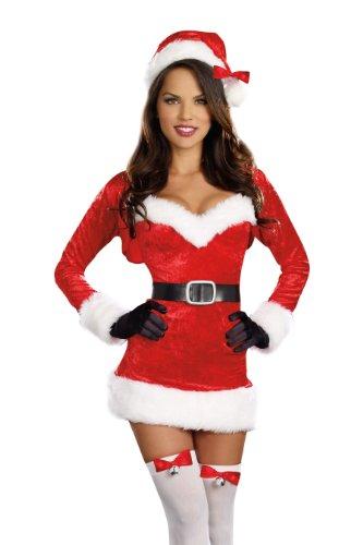 Dreamgirl Women's Sexy Holiday Christmas Costume, Santa Baby