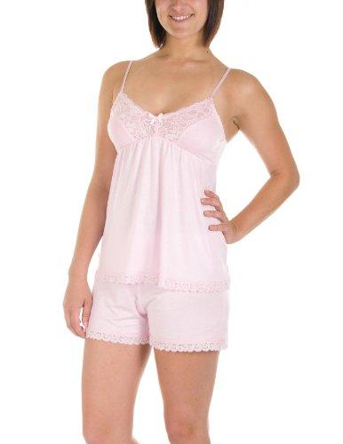Rene Rofe Lace Paneled Cami and Shorts Pajama Set