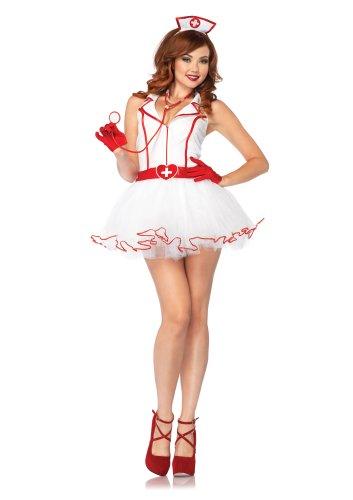 Leg Avenue Costumes 2Pc.Ravishing Rn Petticoat Dress and Matching Head Piece