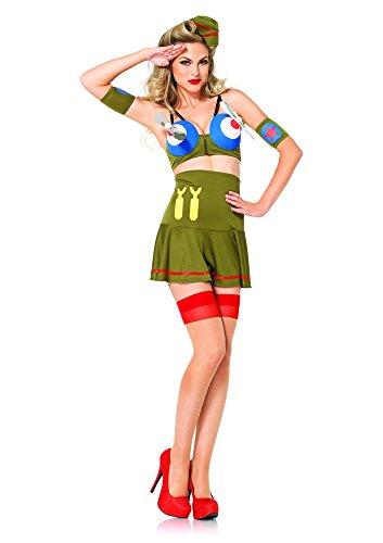 Leg Avenue Women's 4 Piece Bomber Girl