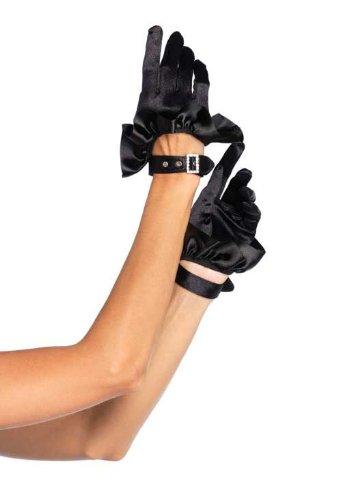 Leg Avenue Women's Cropped Satin Ruffle Gloves