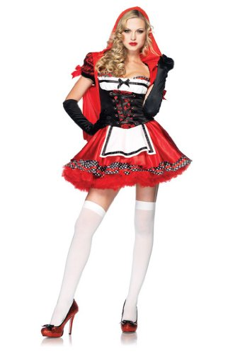 Leg Avenue Women' S Divine Miss Dress With Padded Bra And Attached Hood