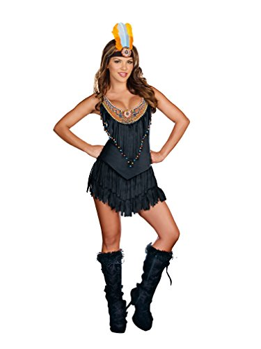 Dreamgirl Women's Sexy Native Tribal Costume, Reservation Royalty