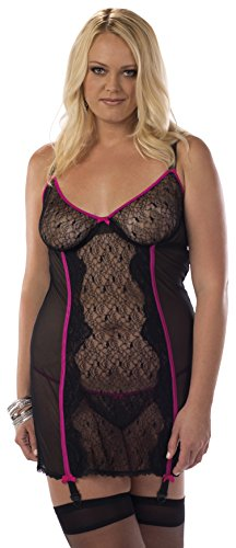 Escante Women's Plus-Size Ravish Bustier Dress with Hose