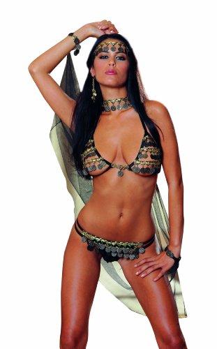 Dreamgirl Women's Gypsy Dancer 4 Pc Bra and Thong Set