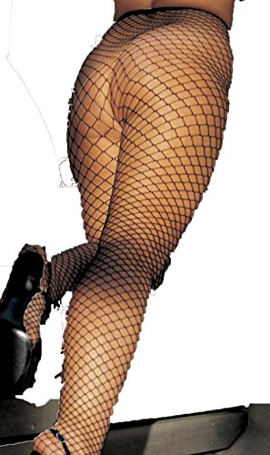 Shirley of Hollywood IS-IA-X96627, Big Hole Fishnet Pantyhose. O/S Black