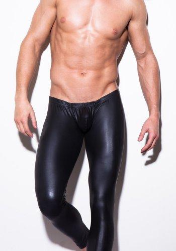 Men's Skinny Underwear Faux Tight Hot Black 1pcs
