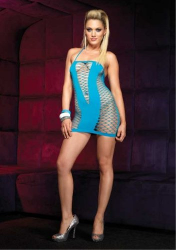 Leg Avenue Women's Seamless Fence Net Mini Dress